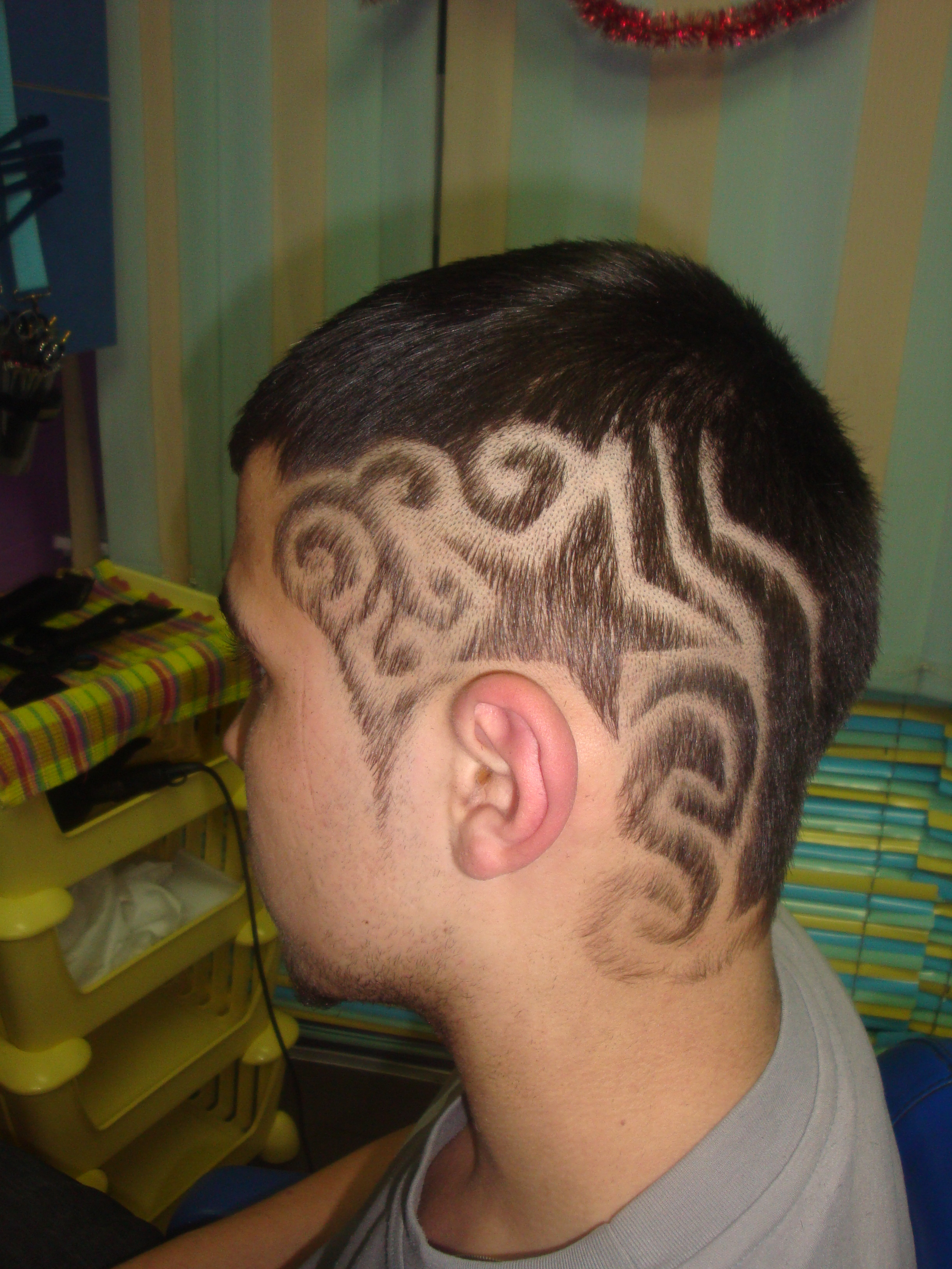 Узор на волосах затылок фото